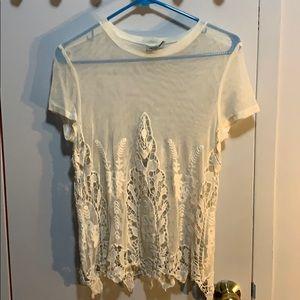 ASOS vintage sheer lace blouse